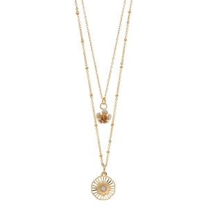 LC Lauren Conrad Layered Flowers Pendant Necklace